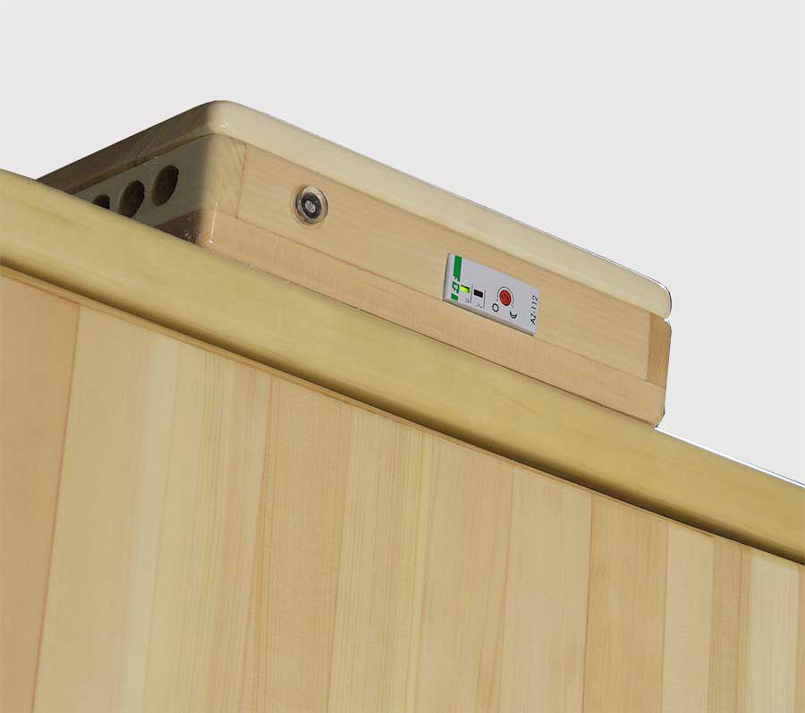 Блок управления подсветкой шкафа из кедра
