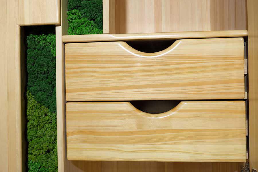 Выдвижные ящики шкафа из кедра