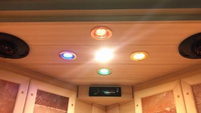 кедровая инфракрасная сауна премиум-класса со всеми опциями