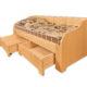 Односпальная кровать из массива кедра. Мечта подростка