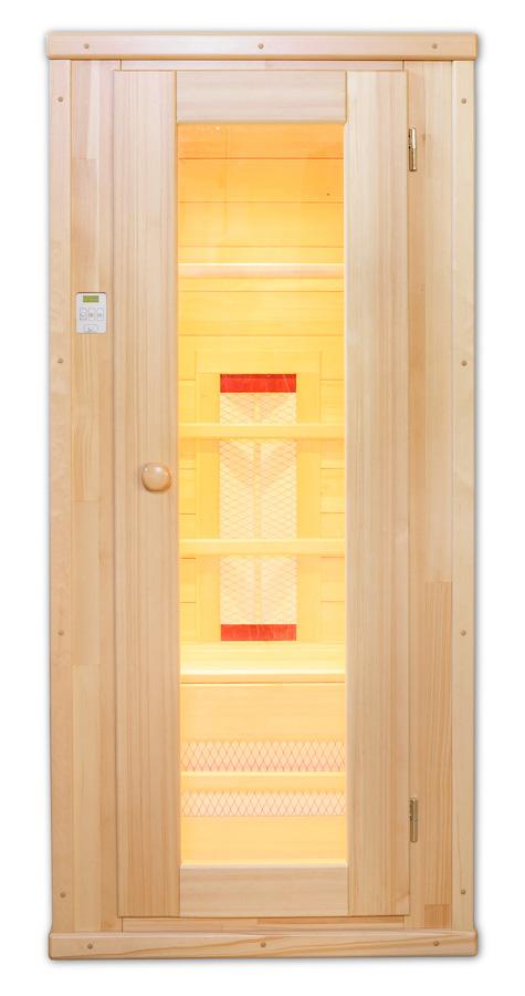 Одноместная прямоугольная кедровая инфракрасная сауна с керамическими нагревателями