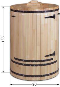 размеры кедровой фитобочки МЕГА