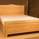 Двухспальная кедровая кровать с гидролифтом