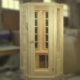 1местная угловая кедровая ик-сауна со стеклянным фасадом