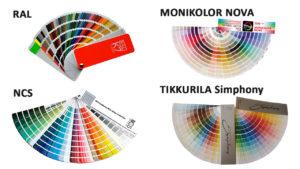 наиболее распространенные цветовые палитры