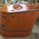 Кедровая полулежачая фитобочка, тонированная в цвет ЯГОДА