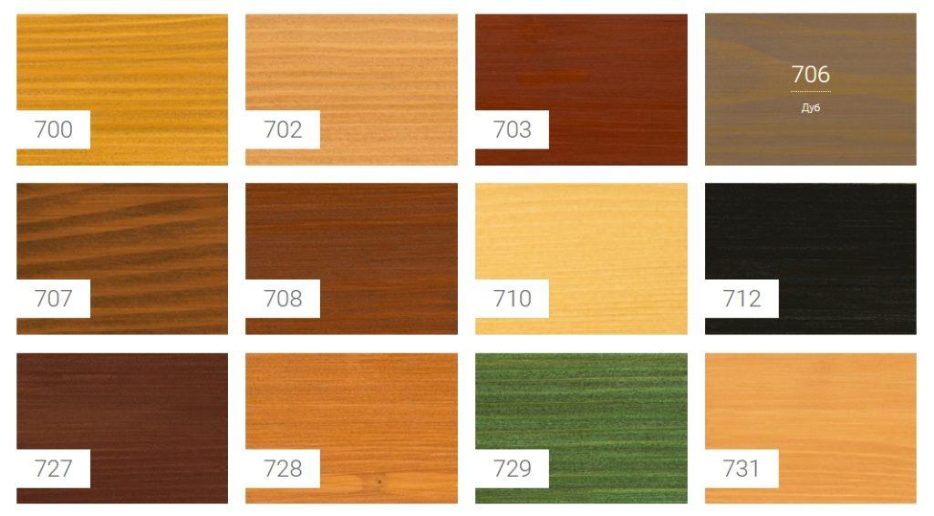цвета масло-лазури OSMO