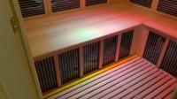 3местная угловая карбоновая ИКС с цветотерапией и аудио